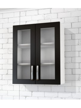2 Glass Doors Top Cabinet (Clear glass)