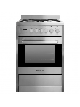 600mm Combination Freestanding Stove, Stainless Steel